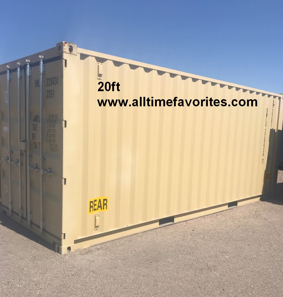 Temporary container rentals 20ft 40ft outside view