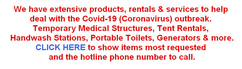 Coronavirus rentals, products and services