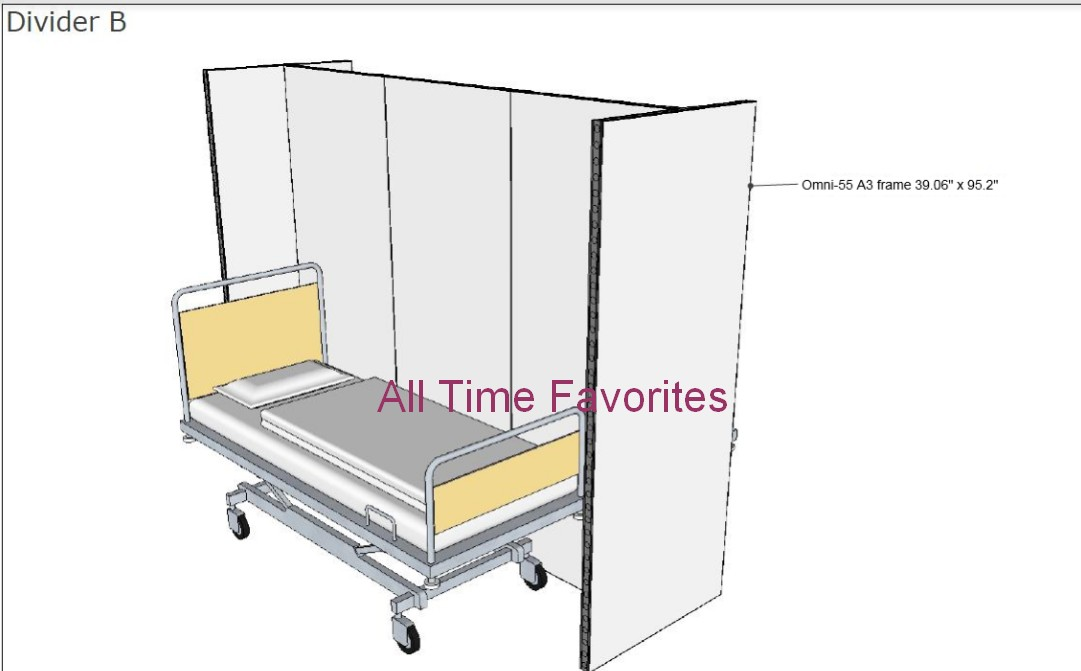 Temporary portable field hospital patient area dividers